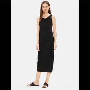 Eileen Fisher Viscose Jersey Tank Dress Black XL